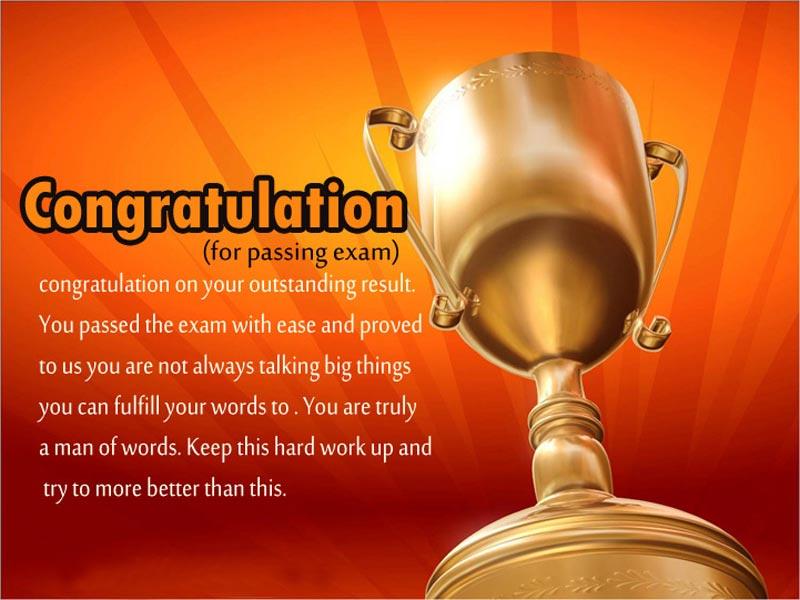 congratulation messages for passing exam