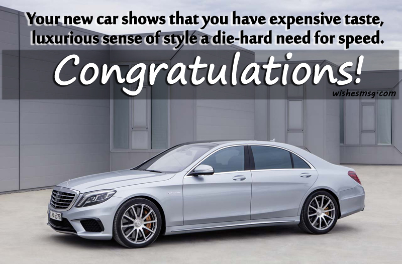 Congratulations Messages For New Car Wishesmsg
