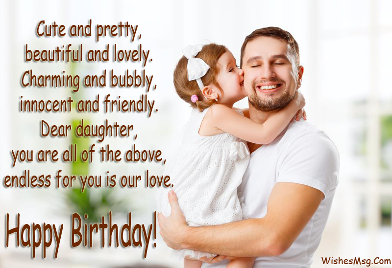 May You Always Be Surrounded By Kind People Happiness Fill Each Of Your Days Cute Birthday Messages For Daughter