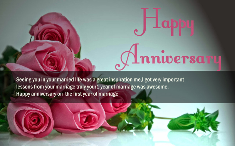 first anniversary messages for couples