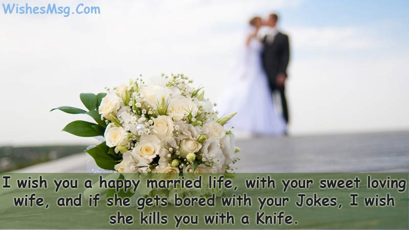 Funny-Wedding-Wishes-for-just-marriade-couple