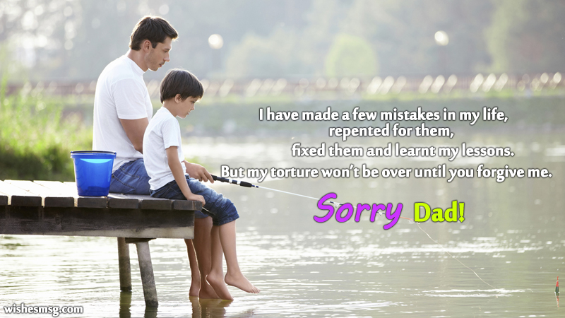 sorry messages for father