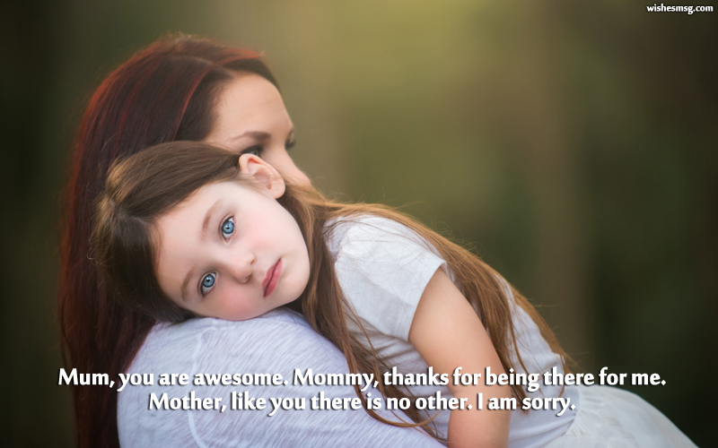 I Am Sorry Messages For Mother - Apology Quotes - WishesMsg