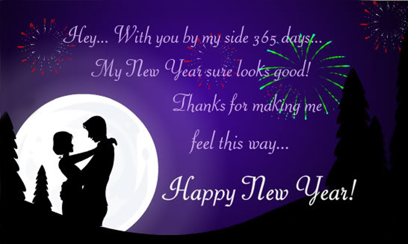 Romantic Happy New Year Messages For Boyfriend - WishesMsg