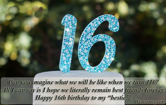 Sweet 16th Birthday Wishes For Friends