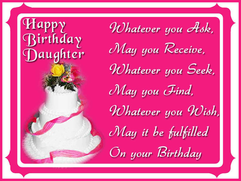 Sweet Birthday Wishes For Daughter