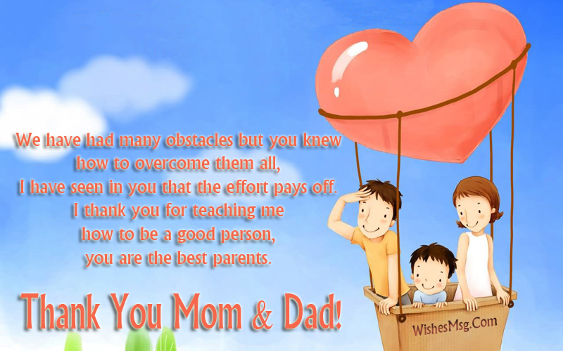 thank you for being such lovable parents