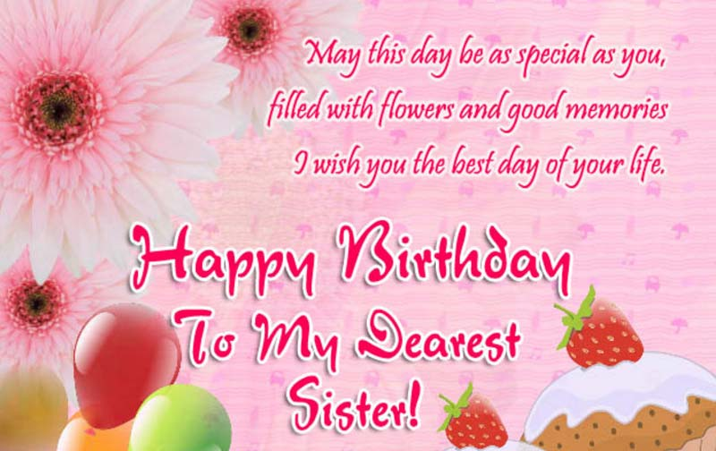 Nothing Is Fulfilled In My Life Without You Sister Happy Birthday To Another Half