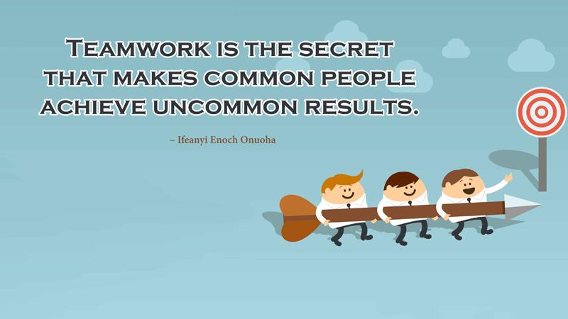 Inspiring Teamwork Messages & Quotes On Teamwork - WishesMsg
