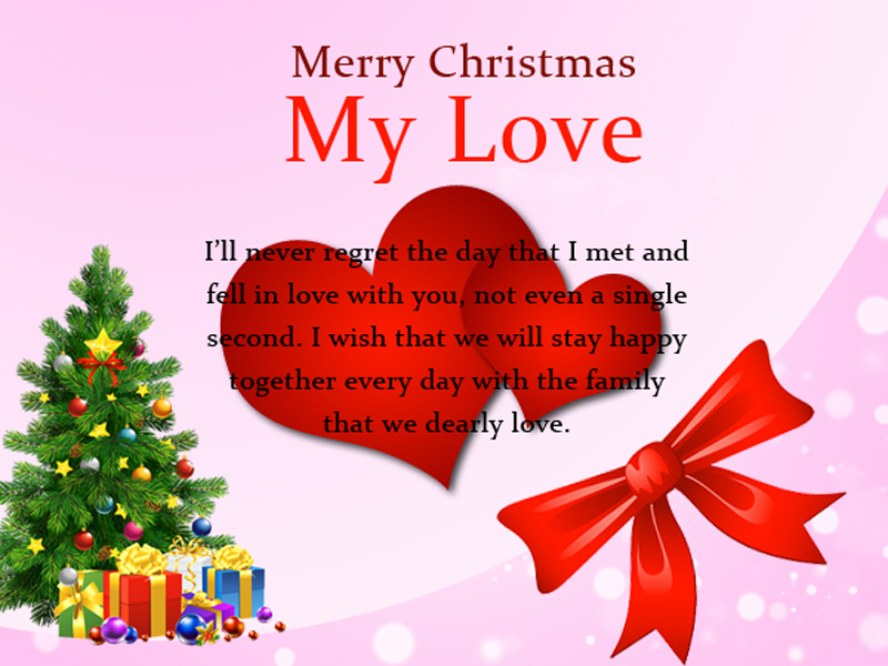 Christmas Love Messages - Sweet Romantic Wishes - WishesMsg