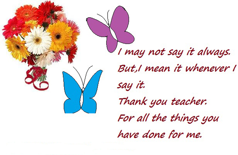 Thank You Teacher Wishes Messages From Students And Parents