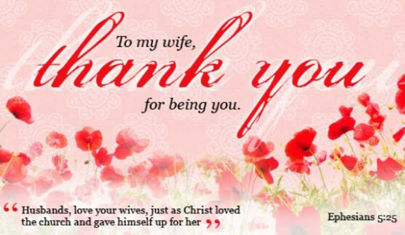 thank you wishes quotes for wife