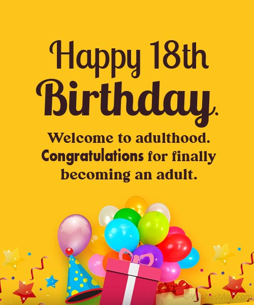 18th birthday message