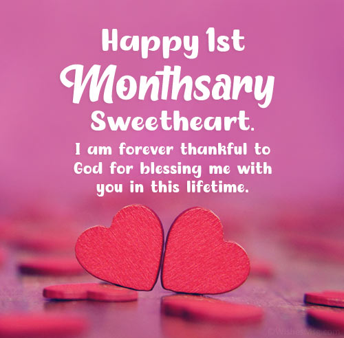 1st Monthsary Message For Girlfriend