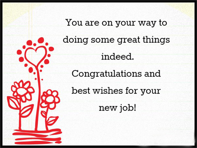 congratulations wishes for new job