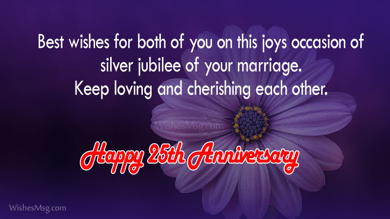 25th marriage anniversary wish
