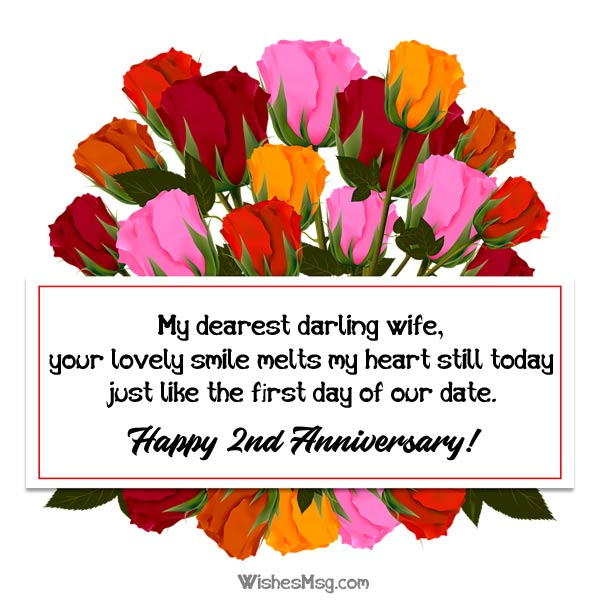 2nd Anniversary Messages For Wife