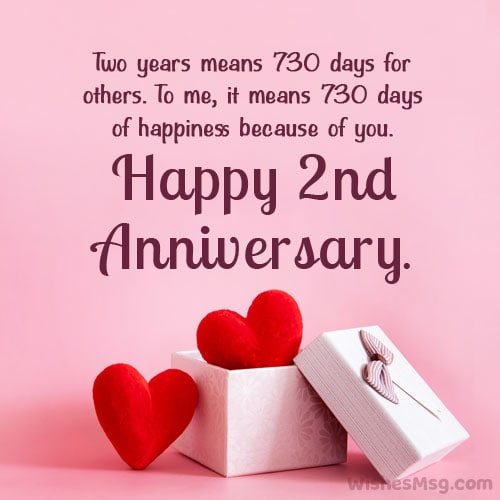 2nd anniversary message for girlfriend