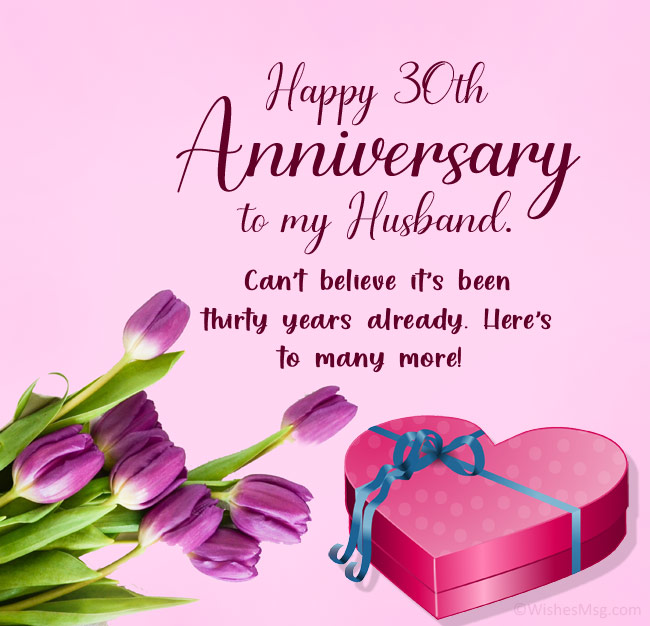 30th Anniversary Wishes for Husband