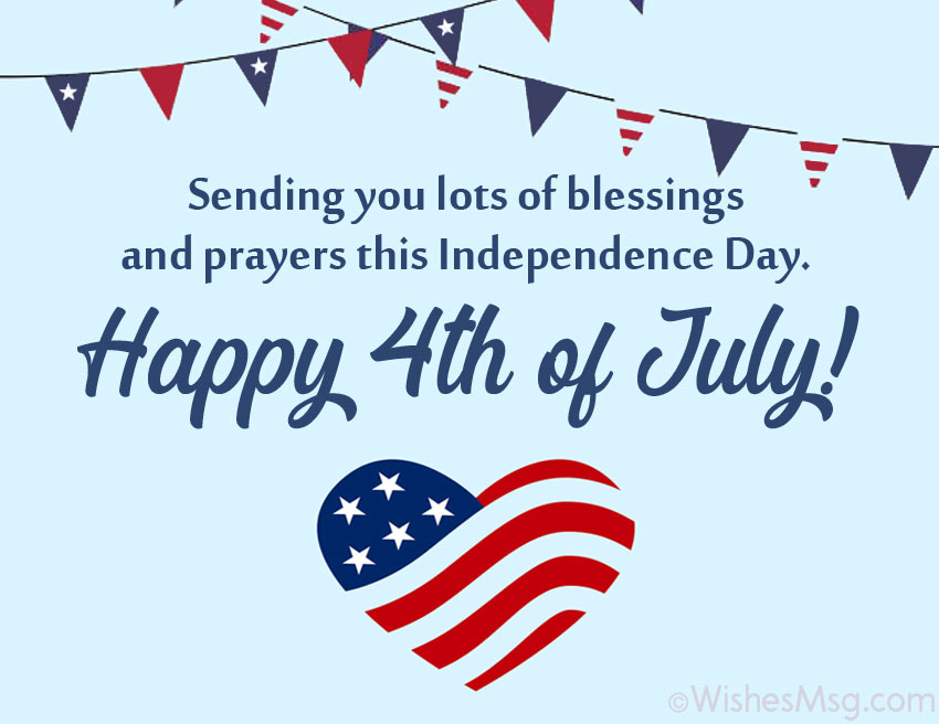 4th of july card messages