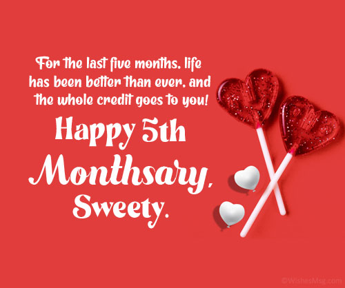 5th Monthsary Message For Girlfriend