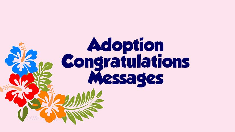 Congratulations on Adoption Messages