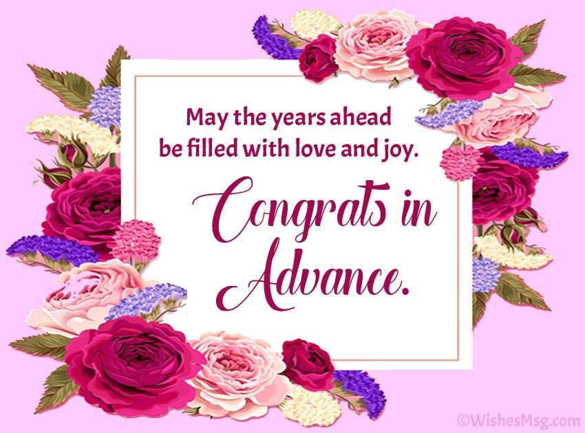 Advance Happy Wedding Wishes
