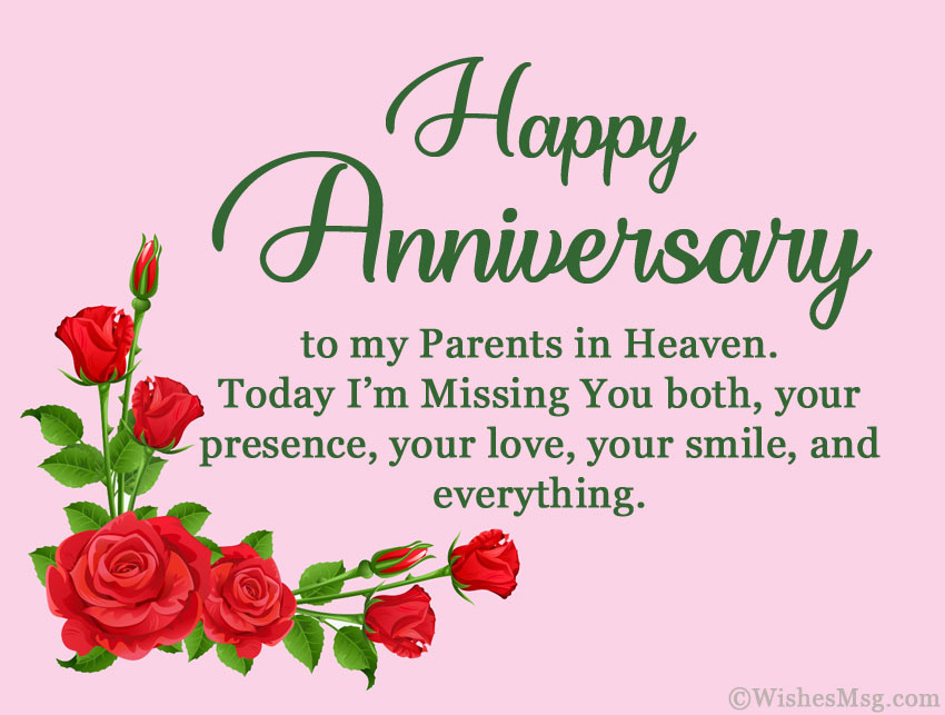 Happy Anniversary to Parents in Heaven