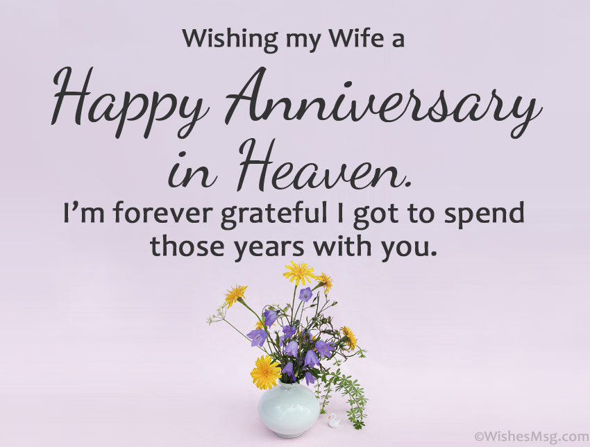 Happy Anniversary to My Wife in Heaven