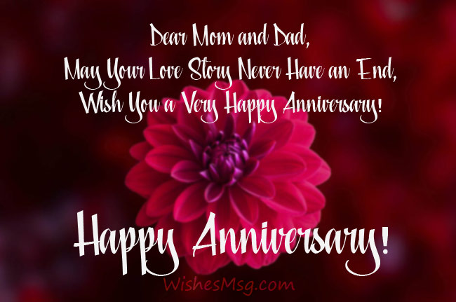 Anniversary Wishes For Parents Messages Quotes Wishesmsg