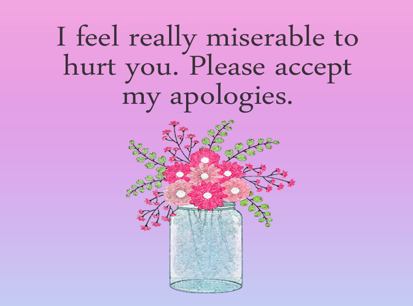 Apology Message to a friend