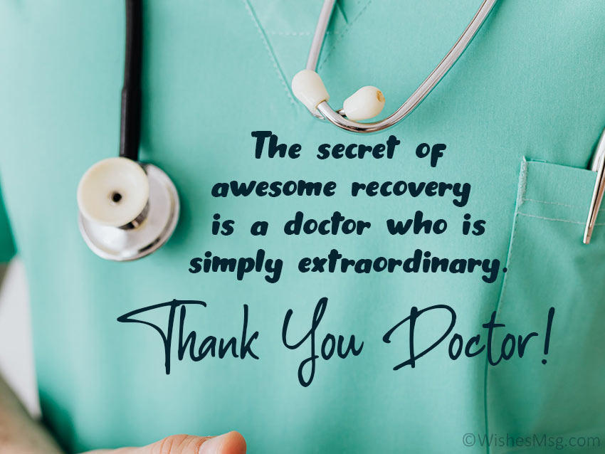 Appreciation Message for Doctor