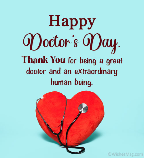 Appreciation Messages for Doctor on Doctor's Day