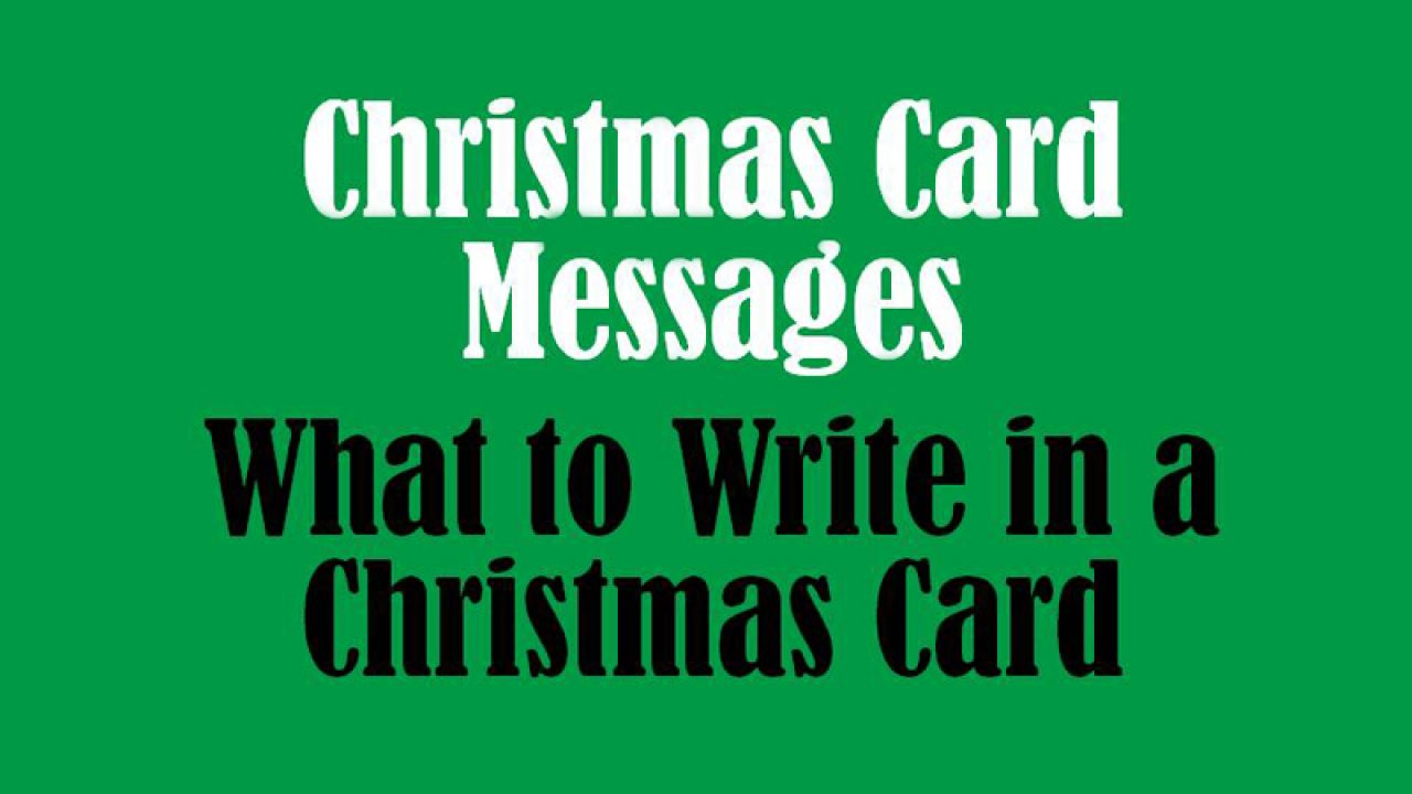 Christmas Card Messages What To Write In A Christmas Card Wishesmsg