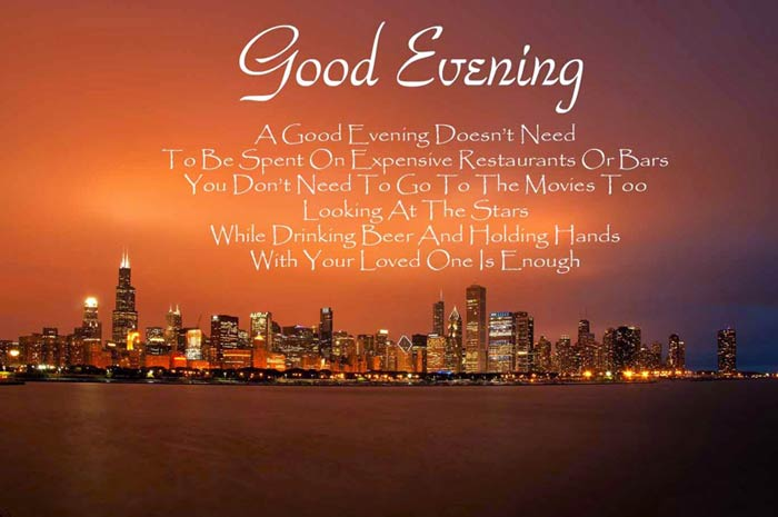 Good evening messages quotes for sweet wishes wishesmsg best good evening messages and wishes m4hsunfo