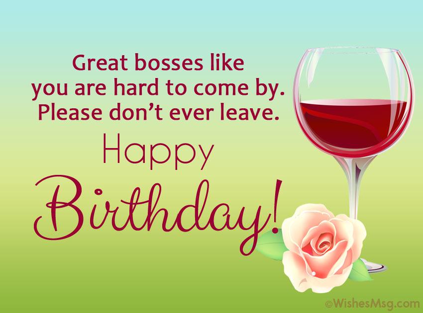 happy birthday boss quotes