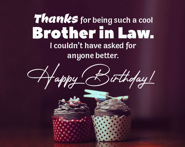 Happy Birthday Wishes for Brother in Law