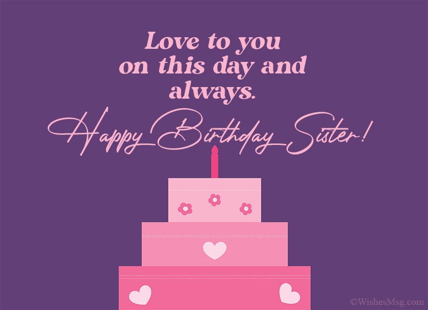 Terrific 160 Birthday Wishes For Sister Happy Birthday Sister Wishesmsg Funny Birthday Cards Online Fluifree Goldxyz