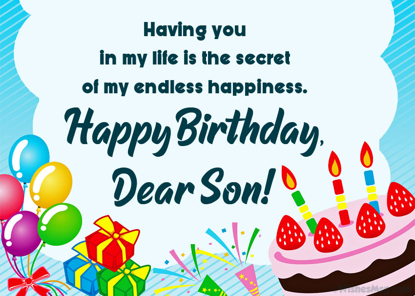 Phenomenal 60 Birthday Wishes For Son Happy Birthday Son Wishesmsg Personalised Birthday Cards Veneteletsinfo