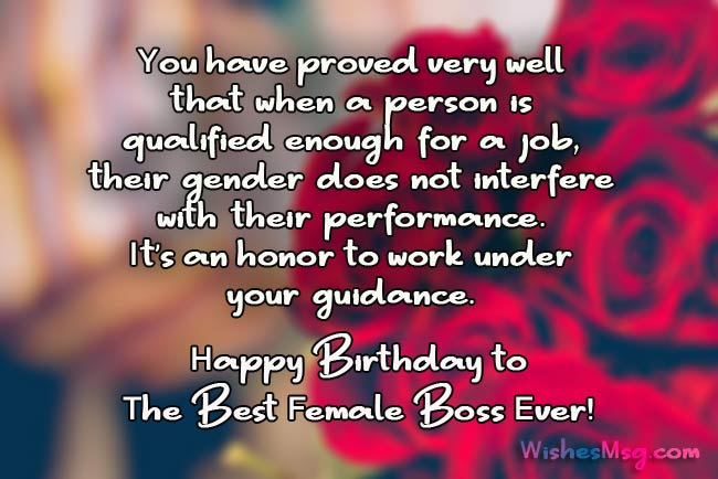 Birthday wishes for boss formal and funny messages wishesmsg birthday wishes for female boss m4hsunfo