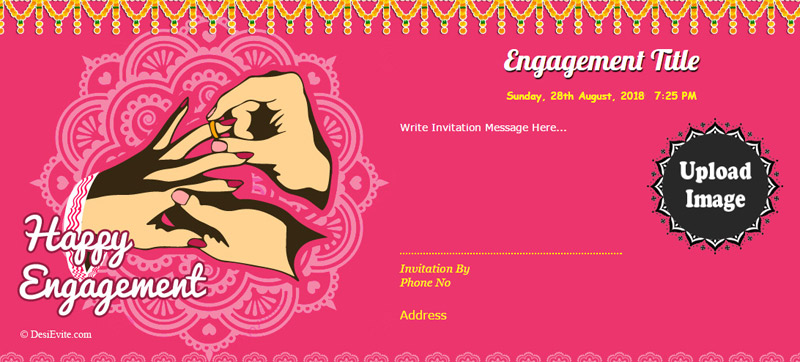 Engagement invitation message and wording ideas wishesmsg blank engagement invitation card m4hsunfo