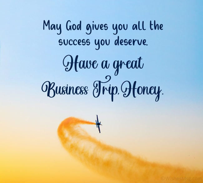 Business Trip Wishes for Husband