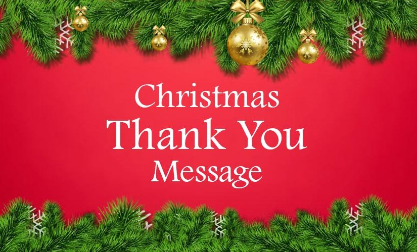 Christmas Thank You Messages and Wishes