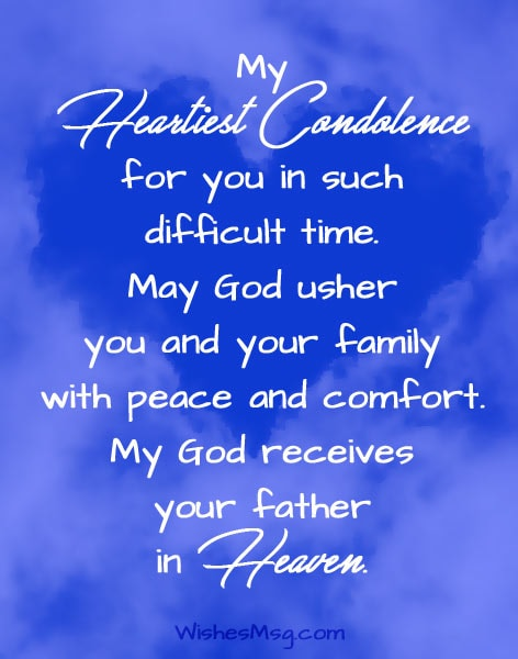 Condolence Messages On Death Of Father Sympathy Quotes Wishesmsg
