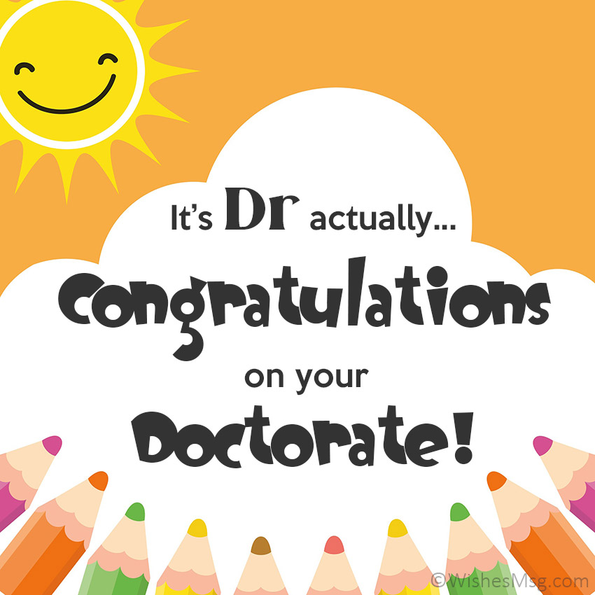 Congratulations on Your Doctorate