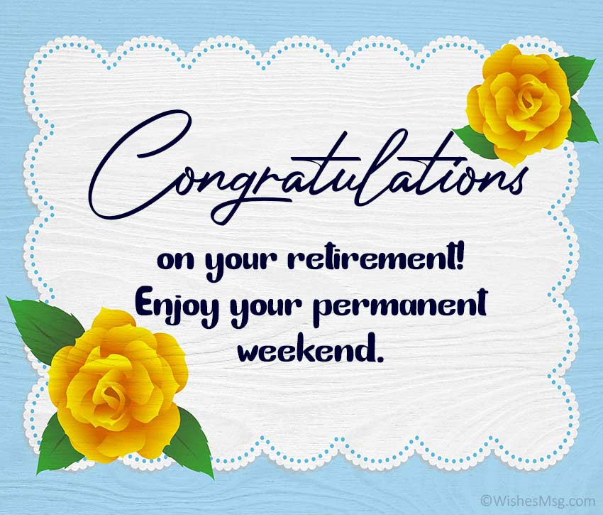 Congratulations on Your Retirement Wishes