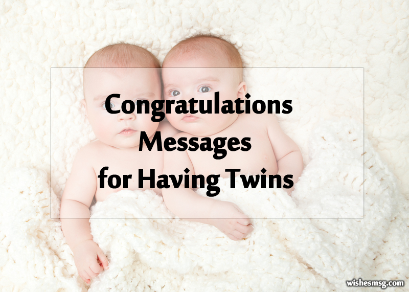 twin baby congratulation messages