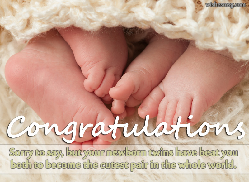 Congratulations wishes twins for facebook