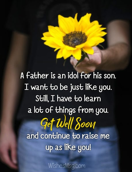 Get Well Soon Wishes Messages for Father - WishesMsg