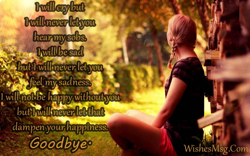 Goodbye Messages For Boyfriend - Sad Goodbye Quotes - WishesMsg